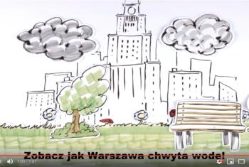 """Film pod tytułem ,,Warszawa chwyta wodę""""."""