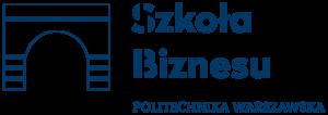 Logotyp Szkoły Biznesu Politechniki Warszawskiej.
